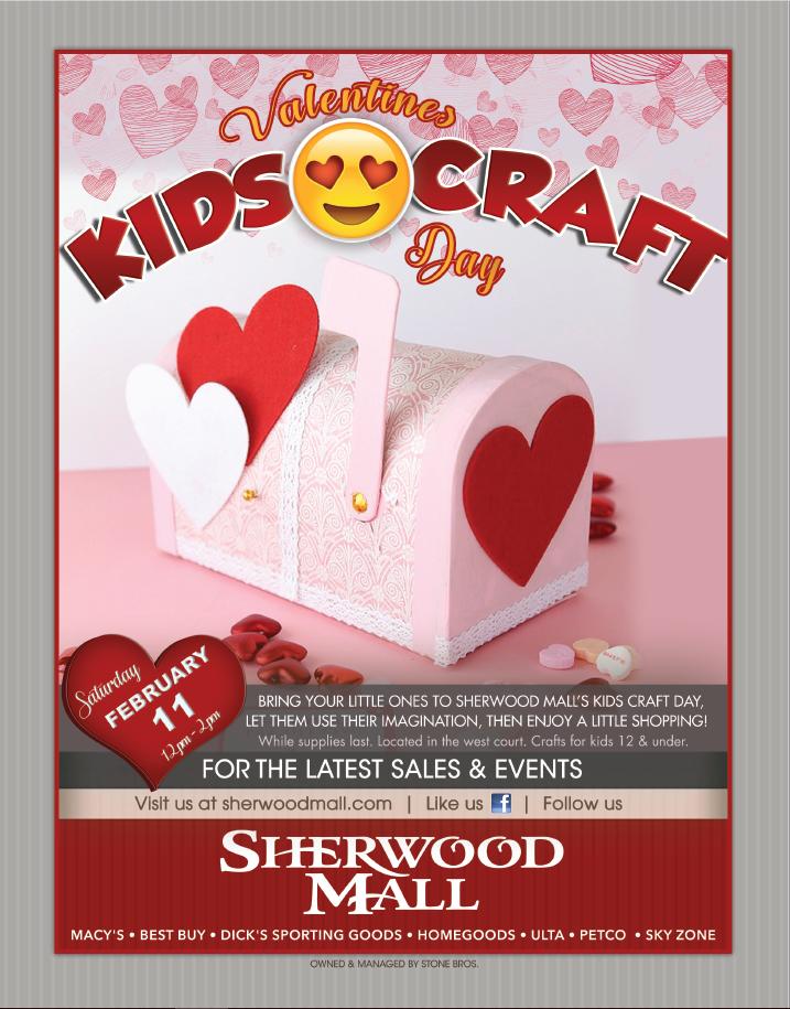 Sherwood Mall Kids Valentine Crafts Day Events Visit Stockton