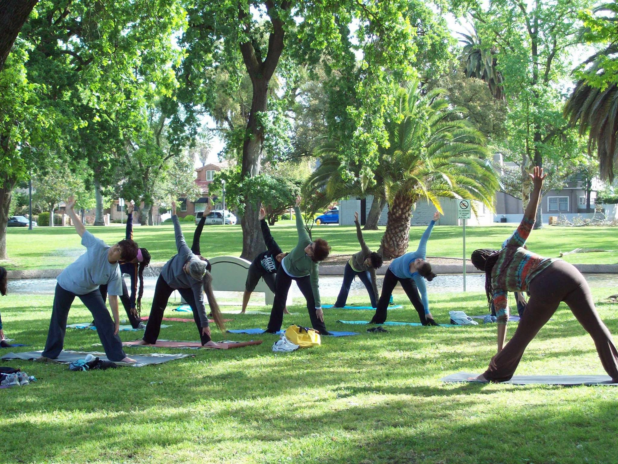 Free Yoga In Victory Park Events Visit Stockton
