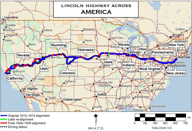 Historical Transcontinental Lincoln Highway | Visit Stockton