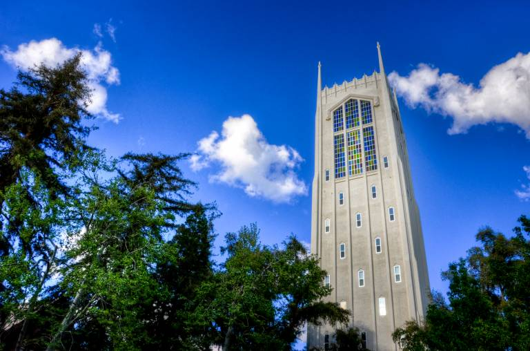Robert E. Burns Tower at University of the Pacific